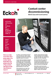 Contact Centre Decommissioning Datasheet