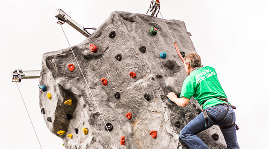 Rock Climbing At Our Summer Day Out 2015