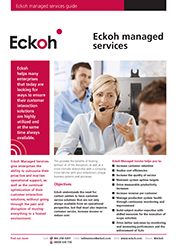 Eckoh Managed Services Guide Datasheet