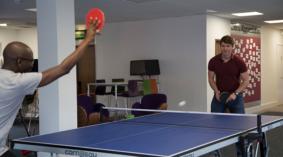 Relaxing with a Game of Table Tennis