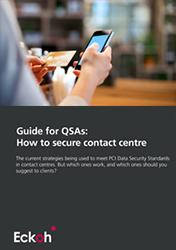 QSAs - how to secure contact center phone payments