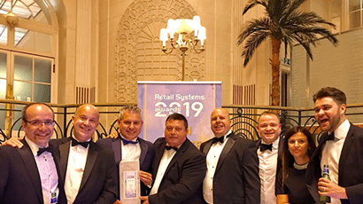 Eckoh and Ideal Shopping at the Retail Systems Awards ceremony
